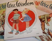 Wee Wisdom Magazine Lot of 15 '44 '45 '46 '47 Cover art by  Dorothy Wagstaff Walter Ohlson Charles A. Grupp