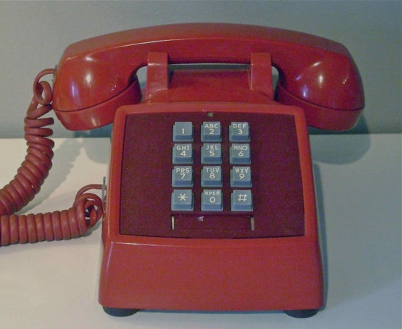 Red Touch Tone Telephone