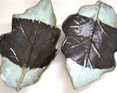 aubergine leaf plates