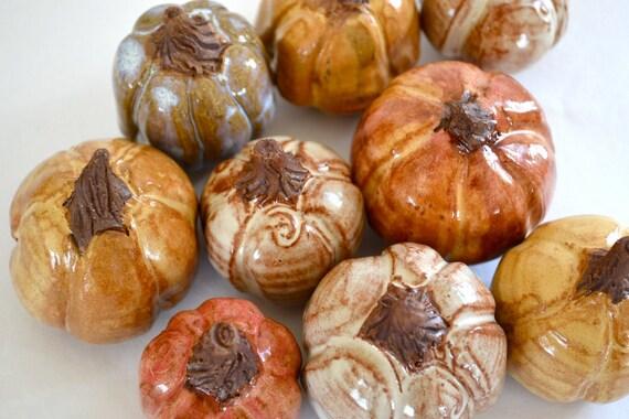 reserved for carolingrg - set of Five pumpkins