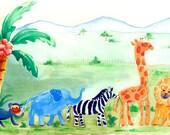 Wild Animals ACEO Print