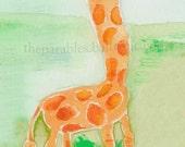 Giraffe ACEO Print