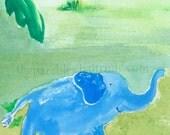 Elephant ACEO Print