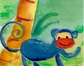 Monkey ACEO Print