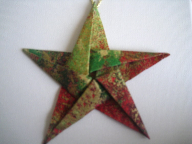 Elegant Fabric Star Origami Christmas Tree Ornaments by ...