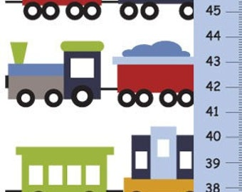 Trains Growth Chart - kids decor