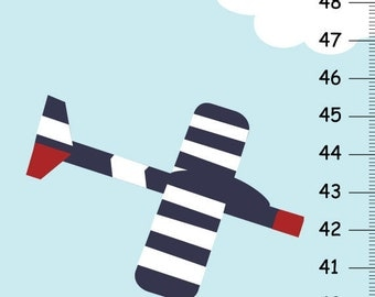 Personalized Growth Chart - Airplane Growth Chart