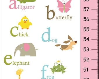 Animal abc chart | Etsy