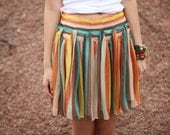 Striped skirt J056