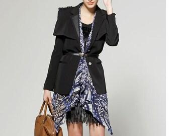 Long sleeve lapel coat (JS020)