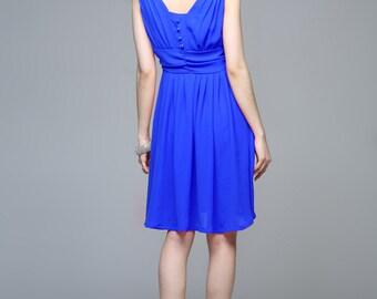 Elegant silk spring dress (JS132)
