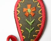 Red Paisley Iron-on Appliques
