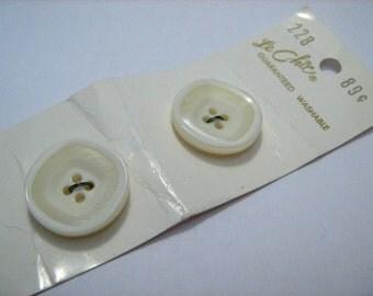Cream Large Vintage Buttons