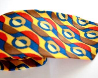 Primary Colors Geometric Vintage Necktie