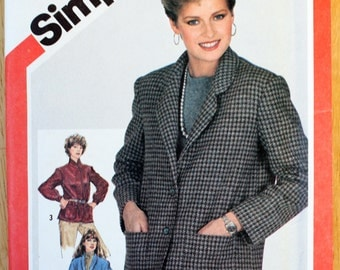 Simplicity 5664 Misses Unlined Jackets Vintage Sewing Pattern