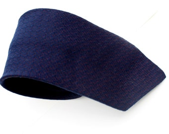 Navy Blue Diamond Print Vintage Tie