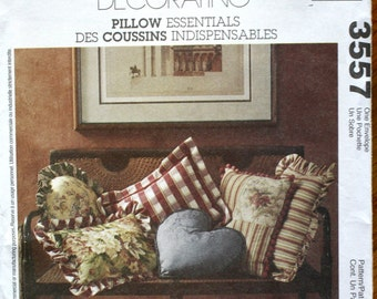 McCalls 3557 Pillow Essentials Home Decorating Pattern