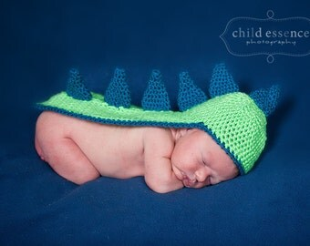 PDF Crochet Pattern Dino Hat Newborn Photo Prop