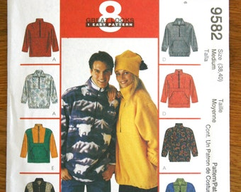 McCalls 9582 Pullover Jacket and Hat Sewing Pattern