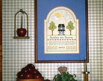 Family Sampler Cross Stitch Pattern Vintage Booklet
