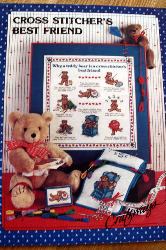 Teddy Bear Cross Stitch Patterns Vintage