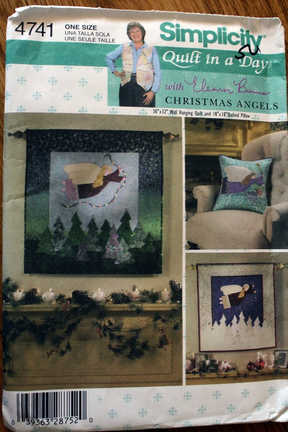 Simplicity 4741 Quilted Christmas Angels Quilt and Pillow Pattern