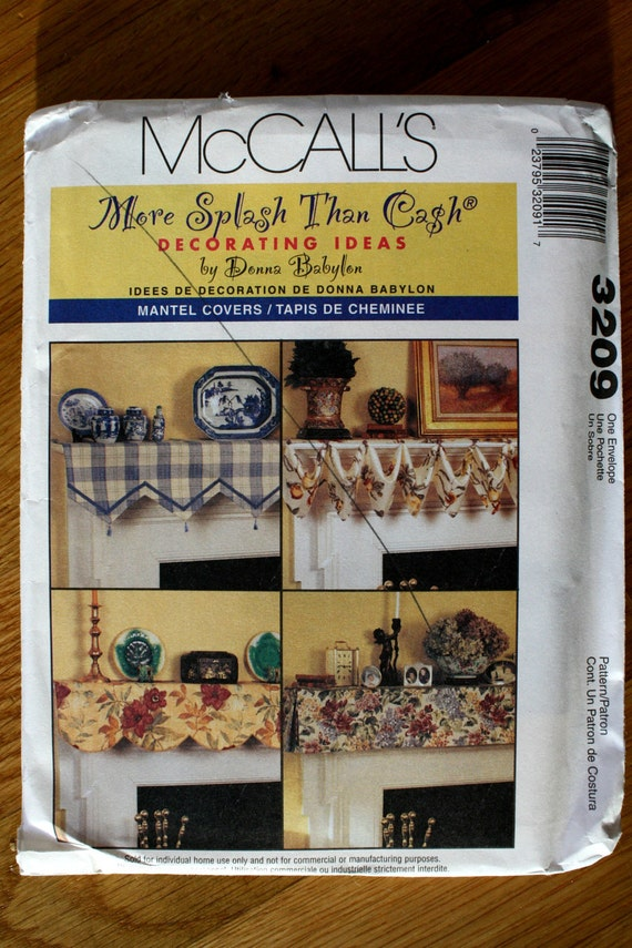 McCalls 3209 Mantel Covers Sewing Pattern
