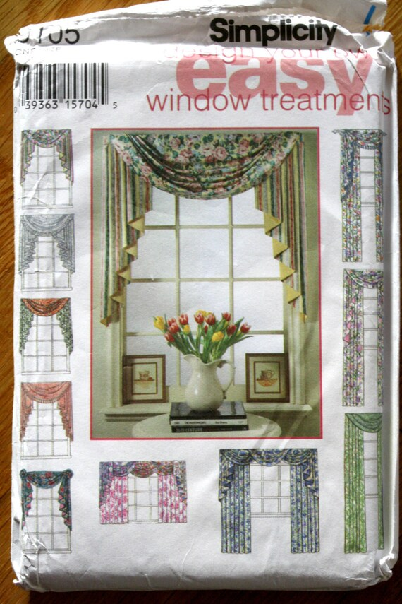 Simplicity 9105 Design Your Own Easy Curtains Sewing Pattern