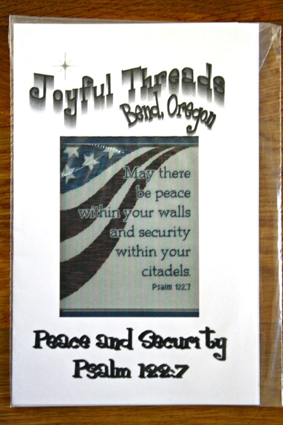 Cross Stitch Pattern - Peace and Security Psalm 122:7
