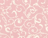 Puttin' On The Ritz - Scroll in Pink and Cream - Bunny Hill Designs for Moda Fabrics
