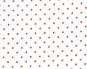 Moda Essential Dots - White Red from Moda Fabrics