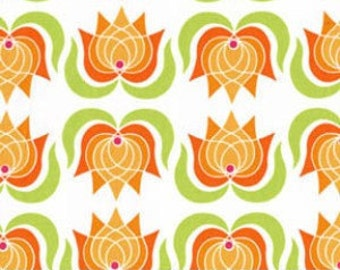 Lush - Modern Lotus in Creamsicle by Patty Young for Michael Miller Fabrics