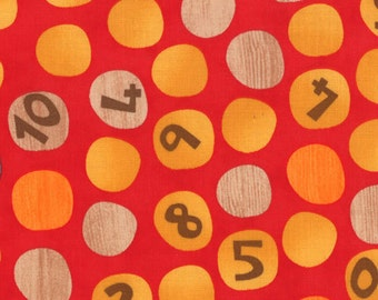 Ten Little Things - Counting Dots in Red by Jenn Ski for Moda Fabrics