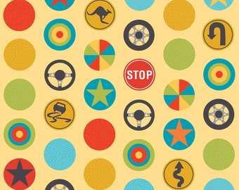 Peak Hour - Stop Yellow by Kellie Wulfsohn for Riley Blake Designs