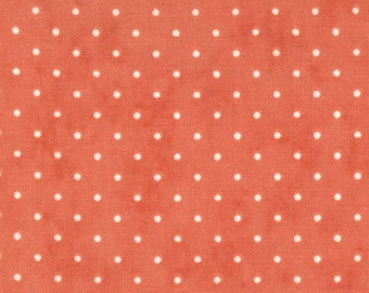 Moda Essential Dots - Coral from Moda Fabrics