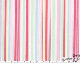 New Old 30's - Pink Green Stripe from Lecien Fabrics