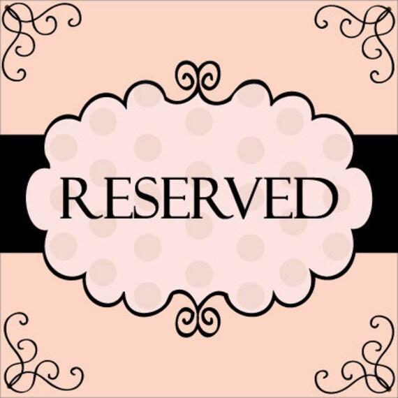 Reserved Listing for Margaret