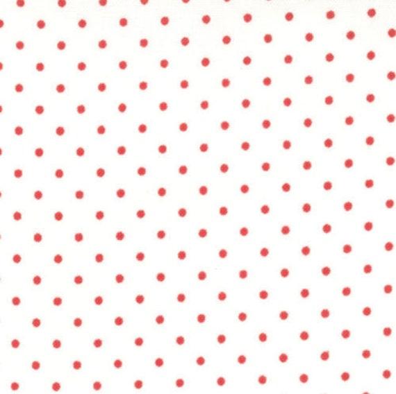 Moda Essential Dots - White Red from Moda Fabrics