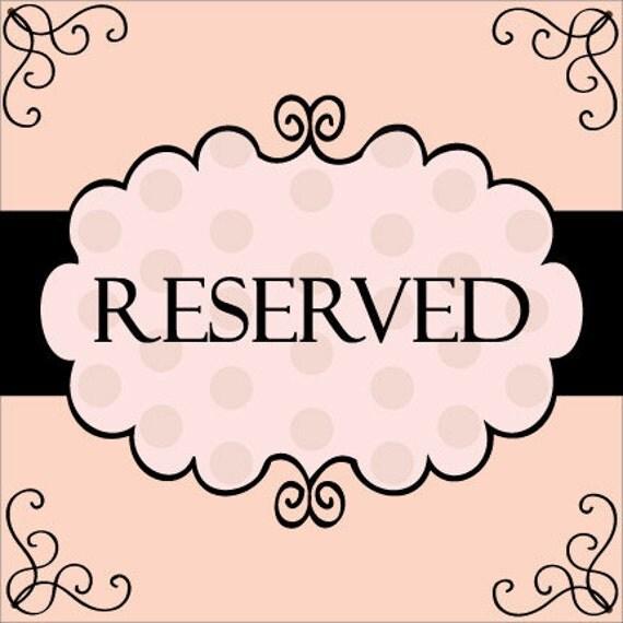 Reserved Listing for Liz