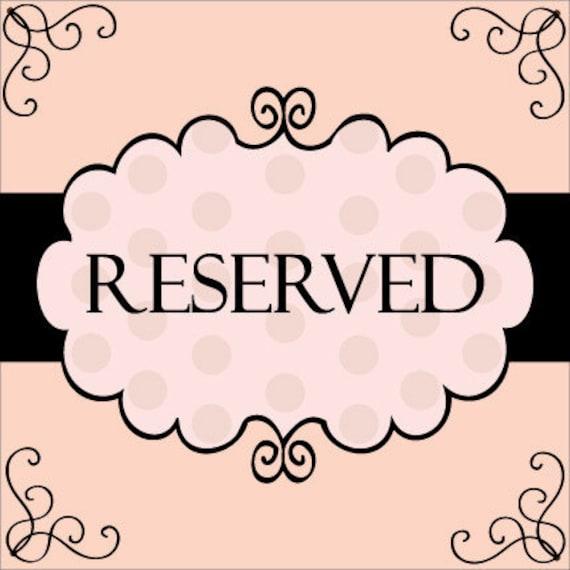 Reserved Listing for Brandi