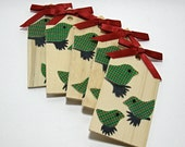 Wooden Bird Tags (Set of 5) - Destash/Supply Mystery Box