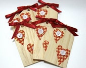 Wooden Heart Tags (Set of 5) - Destash / Supply Mystery Box