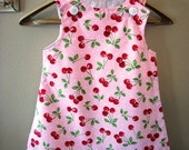 Cherry Blossom A-line Dress...Sizes Newborn to 4T