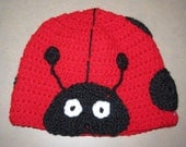 Lovely Lady Bug hat, MADE to ORDER, unique fun gift for kids, winter hat, warm and soft red with black spots, or create your own colors