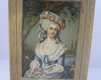 Victorian Lady German Decoupage Book Box