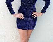Purple Crushed Velvet Contempo Casuals Dress
