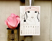 2011 Calendar - Girl Cloth Spiral - original mixed media art designs