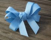 Small Baby Blue Hair Bow