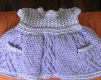 Hand knitted little girl's jumper