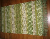 LIME/APPLE GREEN Hand  Weaved/Twined Rug